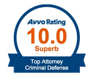 avvo rating 10.0 superb top attorney criminal defense badge